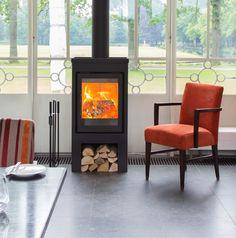 Buntfires Flores 10 - Kusk Haarden & Kachels Wood Burner Fireplace, Modern Lodge, Outdoor Oven, Pellet Stove, Kitchen Stove, Wood Storage, Big Houses, Home And Living, Cool Furniture