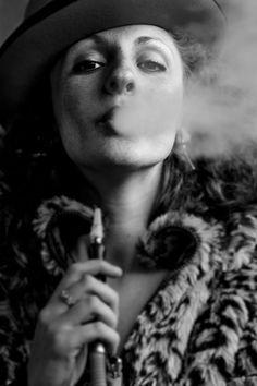 Portrait of Yuliya smoking