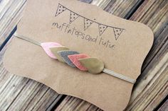 Fall leaf headband MINI SIZE faux leather by muffintopsandtutus