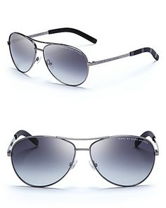 a77f378dd34 MARC JACOBS MARC BY Women s Side Stripe Aviator Sunglasses Jewelry    Accessories - Sunglasses - All Sunglasses - Bloomingdale s