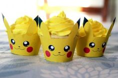 Inspiring image cake, candy, cupcake, pokemon Resolution: Find the image to your taste! Festa Pokemon Go, Pokemon Party, Pokemon Birthday, 11th Birthday, Birthday Party Themes, Pokemon Fan, Pokemon Cupcakes, Fete Anne, Bolo Pikachu