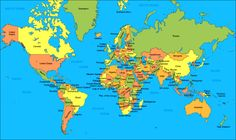 Awesome world map country names high resolution wallpaper download mapa mndi mapa do mundo e os mapas dos continentes world map wallpaperhd gumiabroncs Images