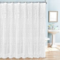fabric shower curtain liner and hook set white