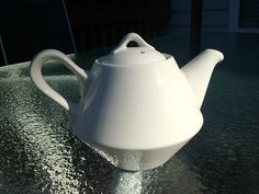 Unique Vintage Hall China White Table Top Diner-style Coffee or Tea Pot
