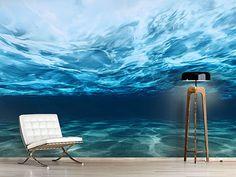 Raumansicht Wohnzimmer Fototapete Lichtspiegelungen unter Wasser