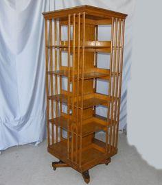 love this revolving bookcase
