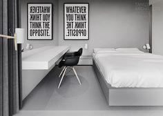 """whatever you think, think the opposite"" poster @  Tamizo Architects Mateusz StolarskiR-house 19 | Est Magazine"