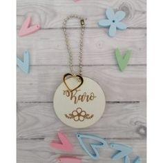 Llavero personalizado Washer Necklace, Pendant Necklace, Jewelry, Personalised Keyrings, Pom Poms, Pendants, Jewellery Making, Jewelery, Jewlery