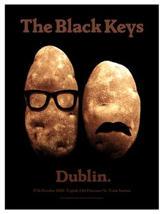 Amusing poster for The Black Keys playing at Dublin