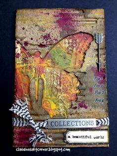 Claudine's Art Corner: Tim Holtz 12 Tags of 2014 - November