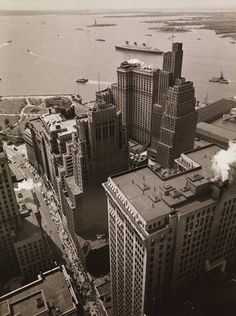 Berenice Abbot, vers Battery Park, New York 1938