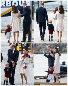 william,kate,charlotte and george leaving canada