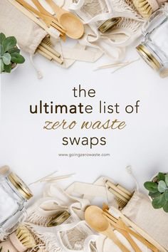 The Ultimate List of Zero Waste Swaps - Going Zero Waste - Zero Waste Living # Climatechangeprotestsigns # Outdoorkitchenbars Going Zero Waste, No Waste, Reduce Waste, Reduce Reuse, Food Storage, Zero Waste Store, Eco Friendly House, Freundlich, Green Life
