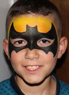 When you think about face painting designs, you probably think about simple kids face painting designs. Many people do not realize that face painting designs go Eye Face Painting, Face Painting For Boys, Mime Face Paint, Face Art, Face Paintings, Monkey Face Paint, Batman Face Paint, Superhero Face Painting, Boy Halloween Makeup
