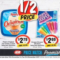 These #halfprice offers from @igaaustralia are spot on for our family. I love vanilla #icecream while my kids are crazy for #zooperdoopers  #onsale until 21.11.17 Thx @timetoget_savvy
