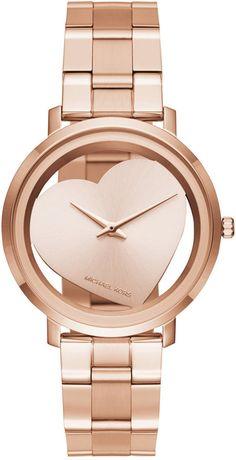 Michael Kors Women's Jaryn Rose Gold-Tone Stainless Steel Bracelet Watch 38mm MK3622