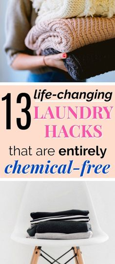 13 All-Natural Laundry Hacks | These natural laundry hacks are AMAZING! I am trying to eliminate toxic chemicals from my home, and now I know how to get stains out naturally, how to make clothes last longer, and how to do laundry faster totally toxin-free! I will be referencing this over and over. Definitely pinning! #hacks #momlife #wellness #green #healthyliving