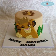 Young Simba Cake by Cutie Cakes