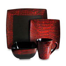 American Atelier 16-Piece Boa Red Dinnerware Set - Bed Bath & Beyond
