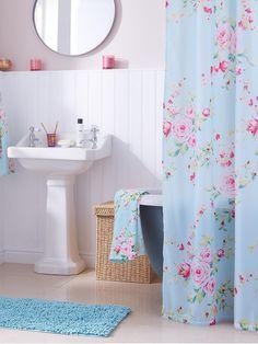 Catherine Lansfield Canterbury Shower Curtain | very.co.uk