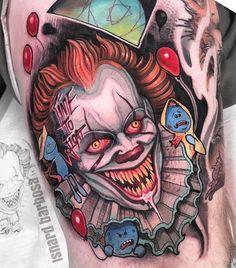 Tattoo artist Isnard Barbosa color and black neo traditional tattoo Badass Tattoos, Body Art Tattoos, Hand Tattoos, Girl Tattoos, Traditional Tattoo Girls, Traditional Tattoo Skull, Portrait Tattoo Sleeve, Sleeve Tattoos, Tattoo Gangsta