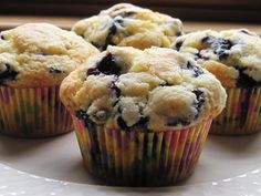 Best blueberry muffin recipe I have made.  Only change I would make is to make 18 muffins instead of 15.  They were really big muffins.