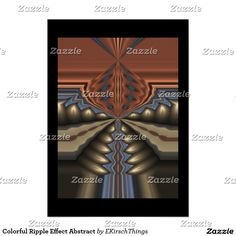 Colorful Ripple Effect Abstract Poster