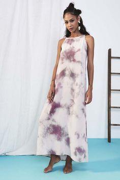 sueded silk amalfi dress in paloma