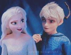 Jelsa - Elsa and Jack Frost - Frozen 2 / Rotg by Jelsa, Jake Frost, Jack Frost And Elsa, Disney Princess Frozen, Elsa Frozen, Princess Luna, Cant Help Falling In Love, Rise Of The Guardians, Movie Couples