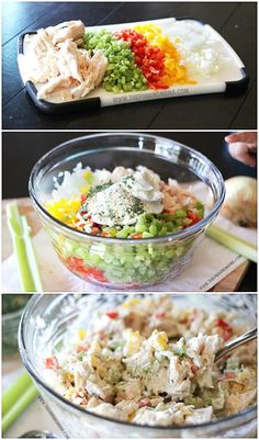 Homemade Ranch Chicken Salad Recipe. This is perfect for a baby or wedding shower!