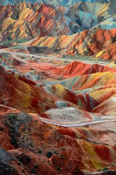Travel Dream #30 Walk through Earth's own rainbow at Zhangye Danxia Landscape Geological Park, China.