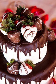 Chocolate cubierto fresas - romántico - ideal para favores de la boda, compromiso, nupcial, Baby Showers, aniversario, regalos de cumpleaños