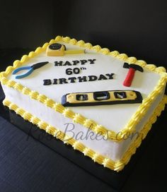 Birthday cake for men tools 27 Ideas for 2019 Birthday cake for men tools 27 Id. Birthday cake for men tools 27 Ideas for 2019 Birthday cake for men tools 27 Ideas for 2019 Birthday Cakes For Men, Birthday Cake For Husband, Birthday Sheet Cakes, Grandpa Birthday, Happy 60th Birthday, Cake Birthday, Husband Cake, Fathers Day Cake, Happy Fathers Day