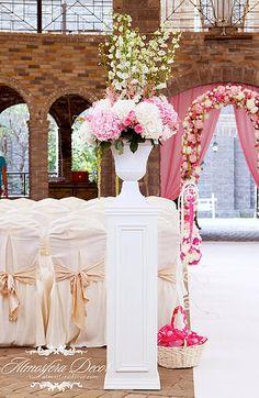 By Atmosfera Decor © Pink, wedding, decoration, flowers