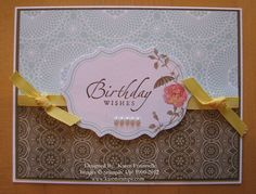 Stampin' Up! Attic Boutique Side Notes Birthday Card | Stamping ...