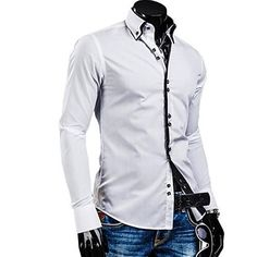 Coolred-Men Single Breasted Casual Leisure Hot Stamping Premium Shirts