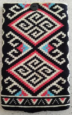 Tapestry Crochet - Mini iPad Sleeve. Pattern inspired by designs of the Iban tribe of Sarawak/Borneo.