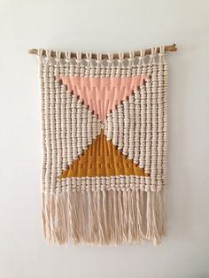 macramé weaving by Sally England, via Behance I must figure out how this is…