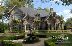 Chateau Lafayette House Plan 02191, Front Elevation, French Country House Plans