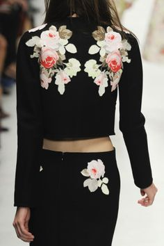 Florals from the back at Carven Spring 2014