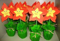 bloem in bloempotje - uitdeel idee