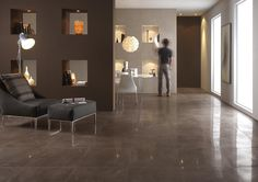 Napir collection give a glossy refinement or natural porcelain hint to flooring projects in bars, apartments or office fit outs in natural tones Ceramica Tile, Office Fit Out, Porcelain Tile, Tile Floor, Tiles, Ceiling Lights, Flooring, Furniture, Home Decor