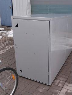 Metall Fahrradhaus für 2 Fahrräder freistehend