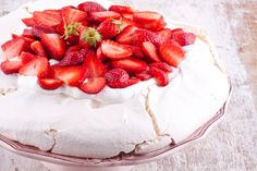 Strawberry Pavlova Recipe on Yummly. Strawberry Pavlova, Strawberry Recipes, Dessert Cake Recipes, Desserts, Aussie Food, Pavlova Recipe, Cherry Cookies, Choux Pastry, Pastry Recipes