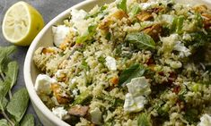 Quinoa Salad w/ Dried Iranian Lime - Made it without the feta. Pretty darn tasty!
