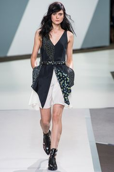 The nod to the '90s is very much appreciated -- I had a thousand of those floaty, floral-print dresses... wish I'd thought to cut them up and put them back together again. #3.1philliplim #nyfw #spring2013
