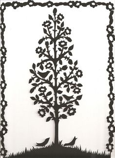 Folk art flower tree with four birds papercutting. © Suzy Taylor | Flickr - Photo Sharing!