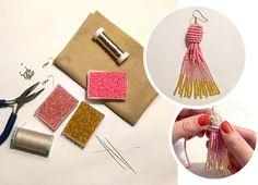 DIY | Kvasteøreringe med perler