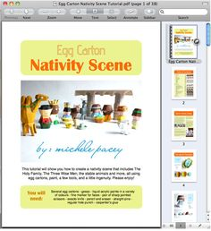 michele made me: Egg Carton Nativity Scene PDF Tutorial in The Shop! Nativity Ornaments, Christmas Ornament Crafts, Christmas Nativity, Egg Carton Crafts, Bad Puns, Three Wise Men, Sunday School, How To Introduce Yourself, Crafts For Kids