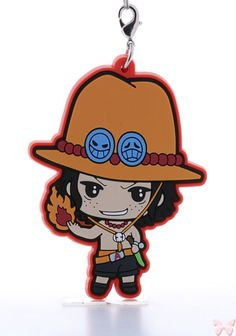 One Piece Strap - Tokyo One Piece Tower Rubber Strap: Ace (Ace)